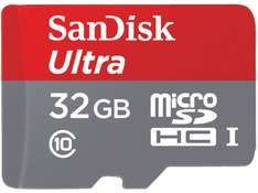 SANDISK Ultra®, 32 GB, Micro-SDHC, UHS Class 1, 80 MB/s + Adapter @ Saturn