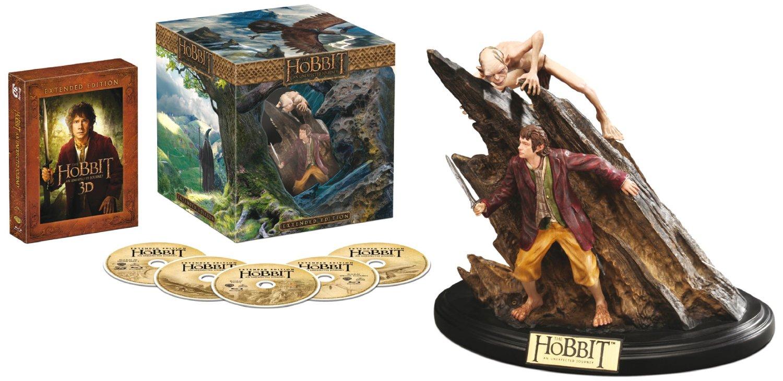 """Alle 3 Teile von """"Der Hobbit"""" in der Extended Collectors Edition incl.3D Blu-ray und Sammelfigur je"""