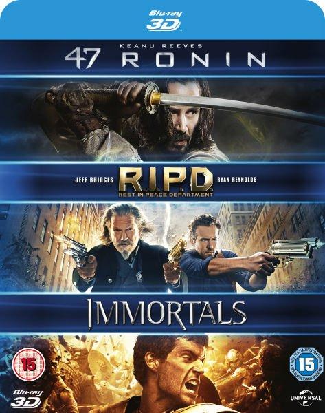 (Zavvi) 47 Ronin + RIPD + Krieg der Götter (3D Blu-ray) für 10,06€