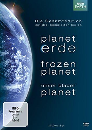Planet Erde / Frozen Planet / Unser Blauer Planet – Gesamtedition (12 DVDs) mit Lentikularkarte & Lesezeichen [Amazon Blitzangebot]