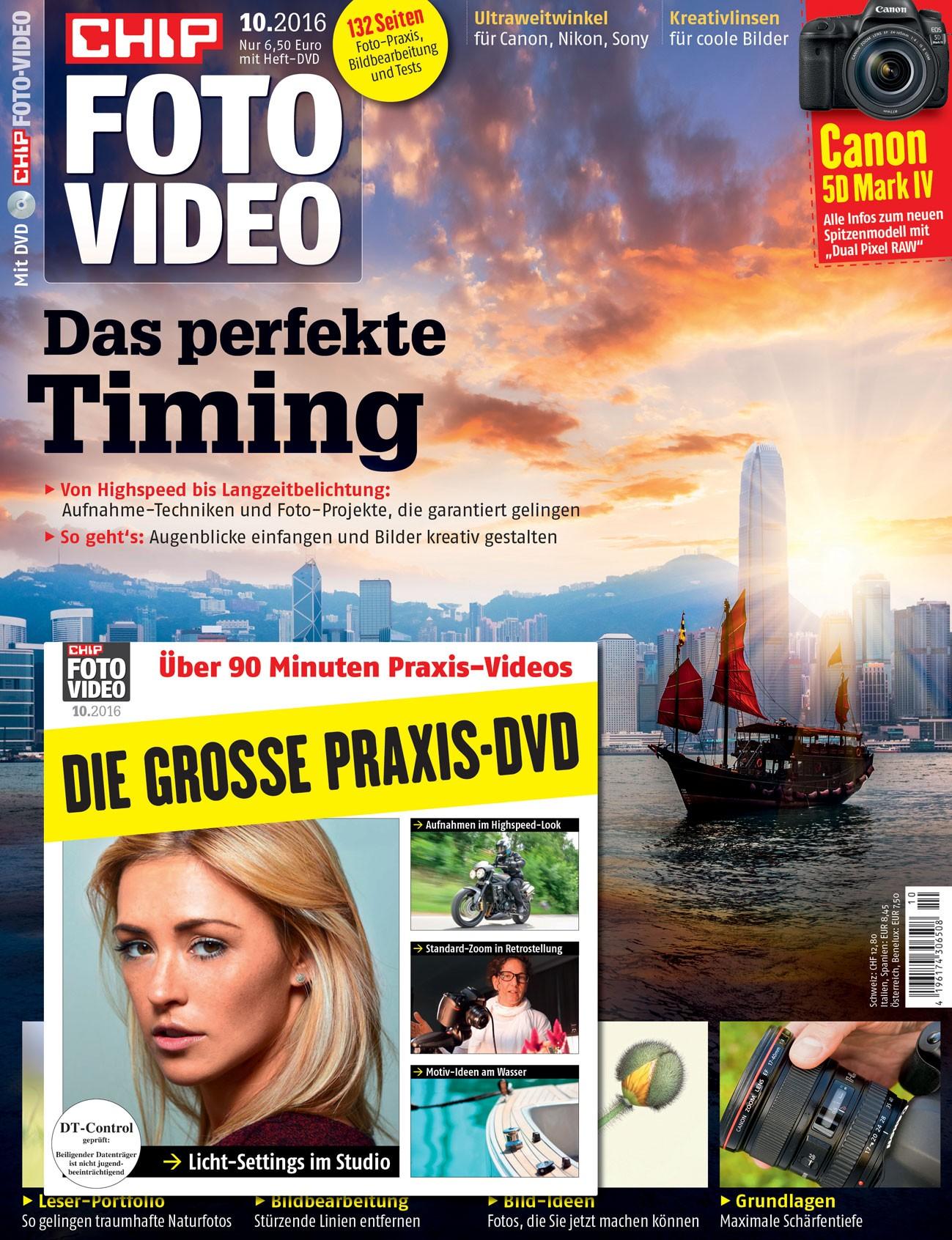 6 Ausgaben CHIP FOTO-VIDEO mit DVD --> 6,90 € (durch 30 € Gutscheinprämie)