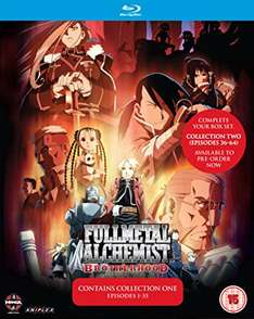 Fullmetal Alchemist Brotherhood Collection 1 Blu-ray (Ep. 1-35) für 14,40€ + weitere Anime-Deals auf Amazon.co.uk