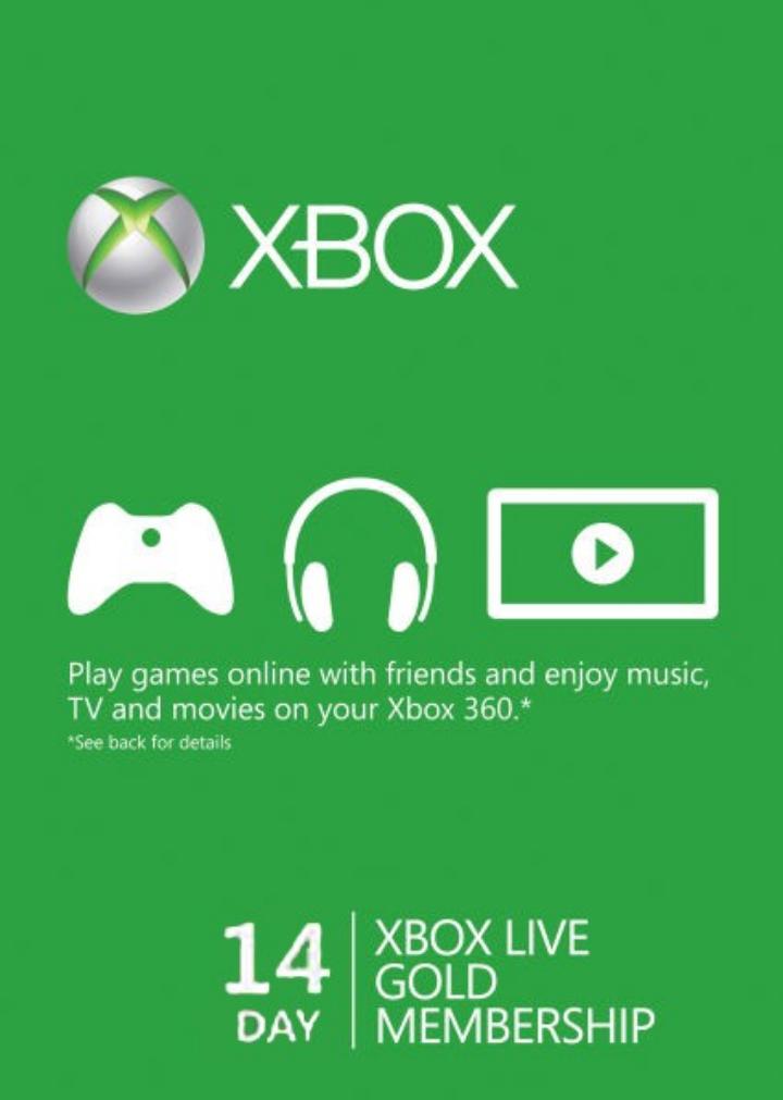 14 Day Xbox Live Gold  (cdkeys)