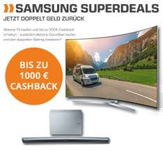 Samsung Superdeals  Aktions-TV + Aktions-Soundbar ​: BIS ZU 1000,- € Cashback