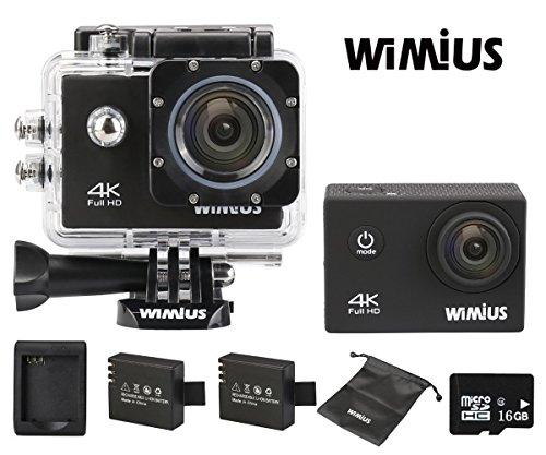 WIMIUS Q1 Action Cam mit 4K 30fps+ viel Zubehör für 55,99€ @Amazon