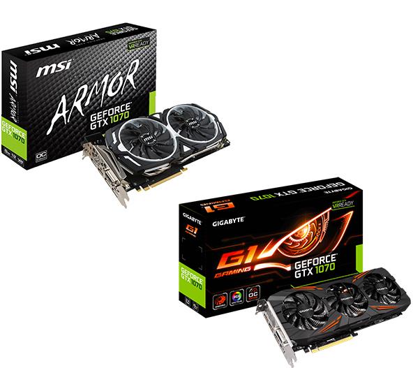 MSI GeForce GTX 1070 ARMOR 8G OC / Gigabyte GeForce GTX 1070 G1 Gaming INKLUSIVE Gears of War 4 Code