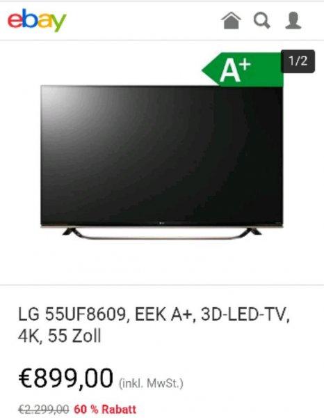 LG 55UF8609, EEK A+, 3D-LED-TV, 4K, 55 Zoll ebay
