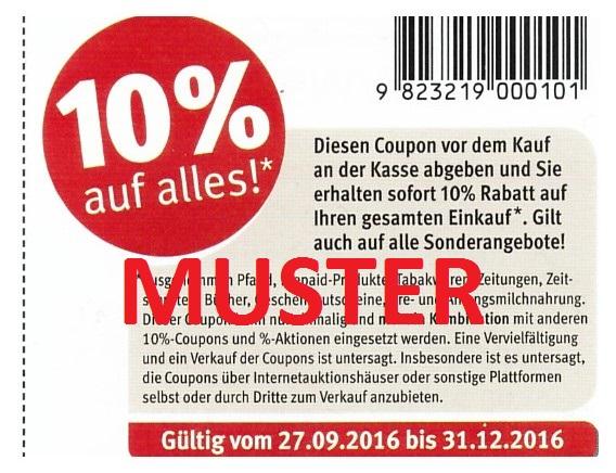 Rossmann 10% Coupon bis 31.12