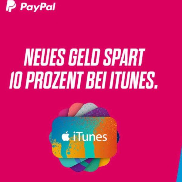 10% Rabatt beim Kauf von iTunes Guthaben per Paypal [50/100€]