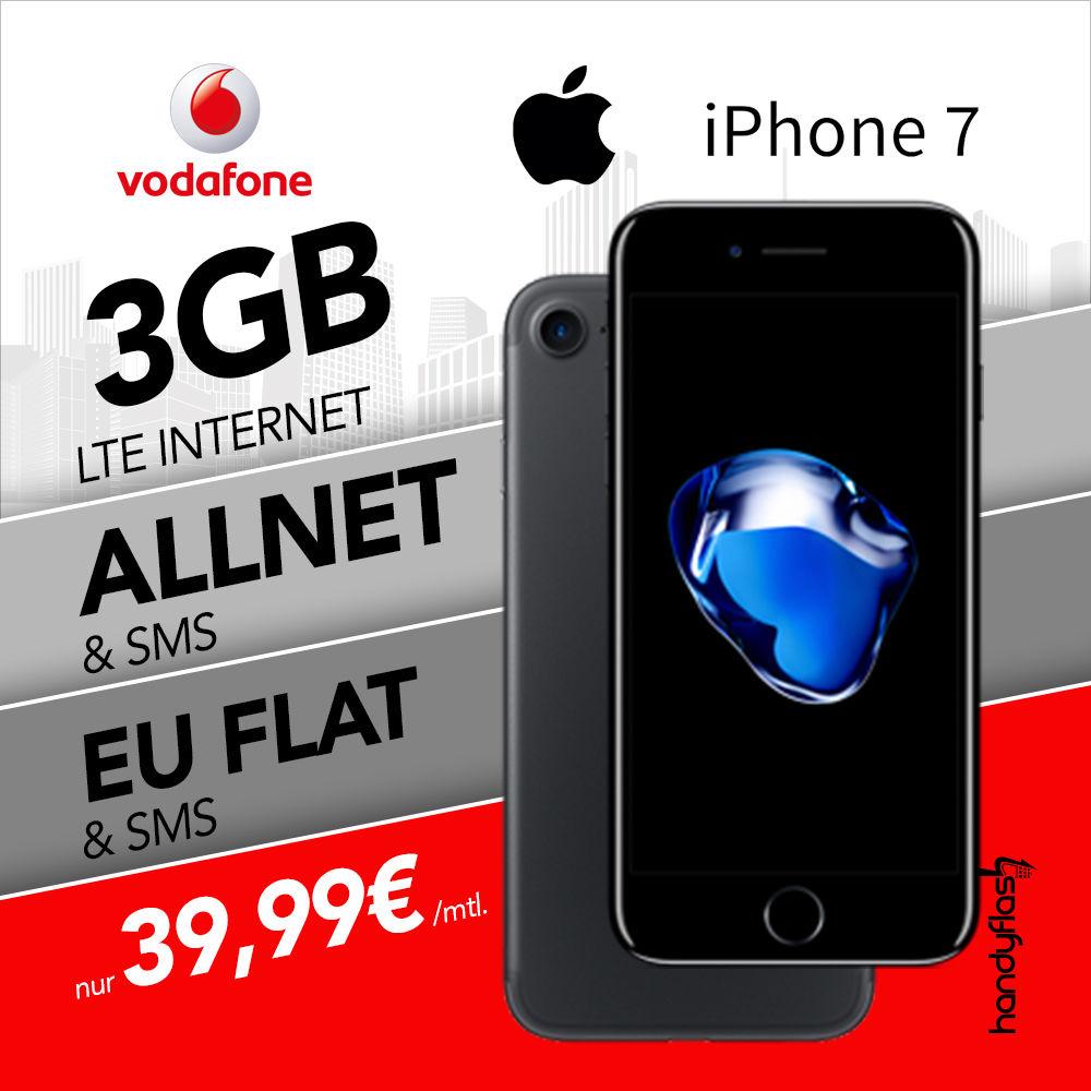 Vodafone SMART Young XL 3000 (Junge Leute) + EU Roaming - 39,99 € / Monat + iPhone 7 32GB für 119 €