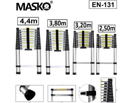 Masko® Teleskopleiter ALU