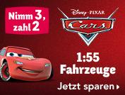 Nimm 3 zahl 2 - Cars Fahrzeuge 1:55 bei [ToysRUs] = 3 Stück ab 20,92€ inkl. VSK