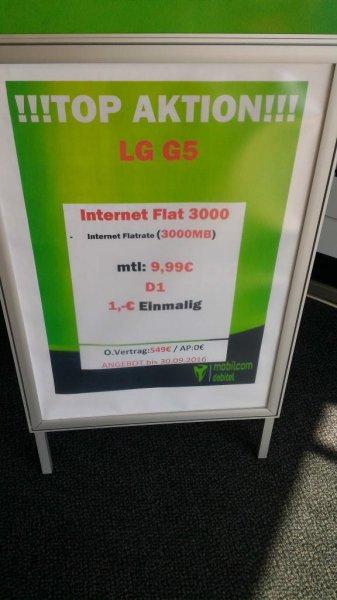 ?[Lokal Senden (89250)] Saturn 2 Jahre Mobilcom Debitel (Telekom) 3 GB LTE Datenflat für 9,99€ + LG G5