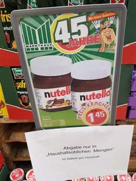 Nutella 450gr Glas 1,45 Euro [lokal Hannover]