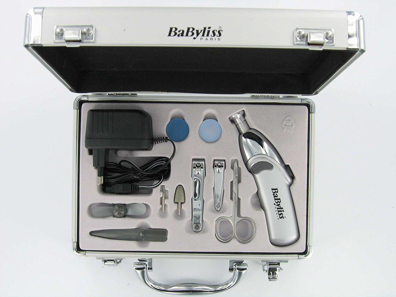 Babyliss 8480 Maniküre- und Pediküre-Set im Aluminiumkoffer NEU
