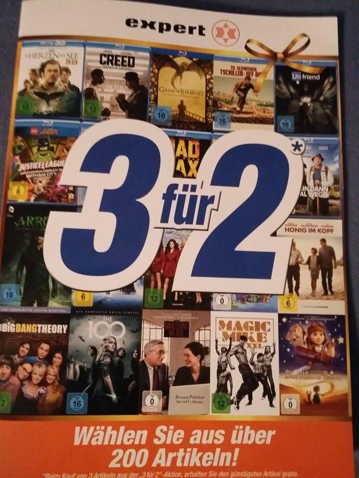 Expert 3 für 2 - Viele Filme und Serien [Nur im Markt?] ab 1.10.16 bis 31.12.16