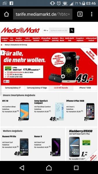 LG G5 inklusive Hi-Fi Paket für rechnerisch 336,76 €