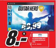 [Lokal Mediamarkt Weiden] Guitar Hero Live in­klu­si­ve Gi­tar­re (Playstation 3) für schmale 8,-€