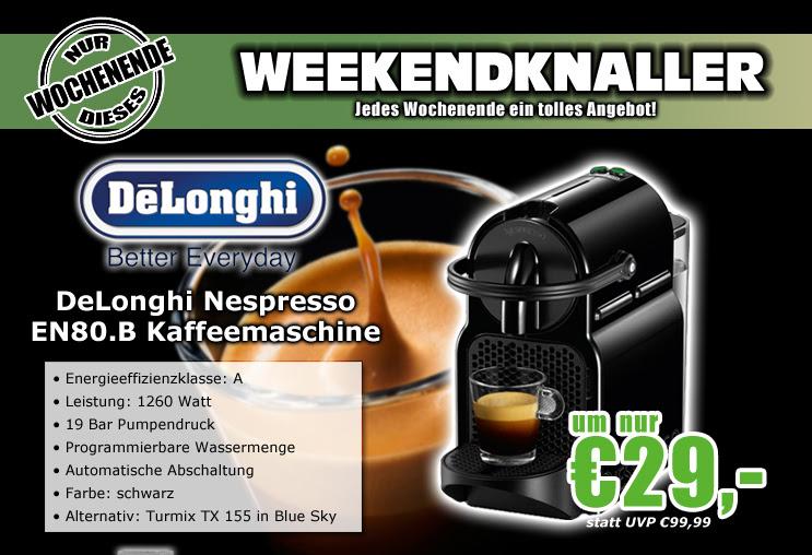 DeLonghi EN80.B Inissia (schwarz) - 35,99€ - idealo 79,78€