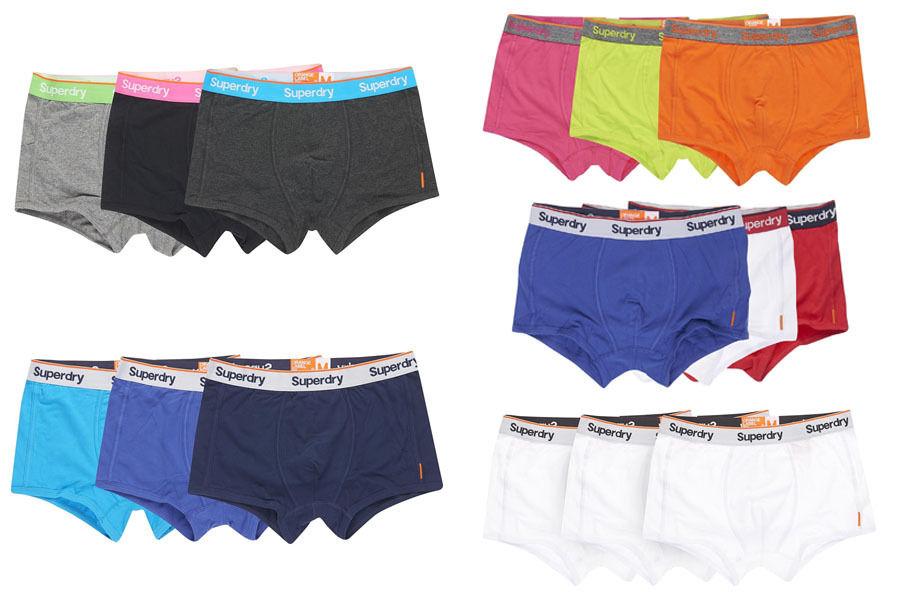 Herren Superdry Boxershorts - Dreierpack Versch. Modelle und Farben @ebay 17,95€