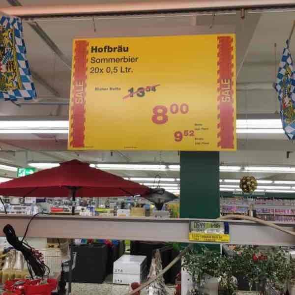 Hofbräu Sommerbier Metro Frankfurt/Main