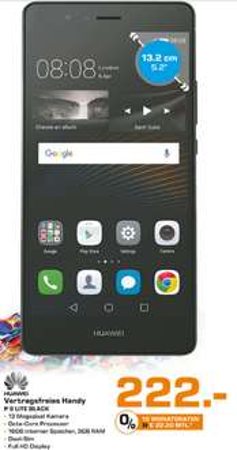 [Lokal Dortmund] Huawei P9 Lite 222€ / P9 Lite + 3GB LTE (Tmobile) 262€
