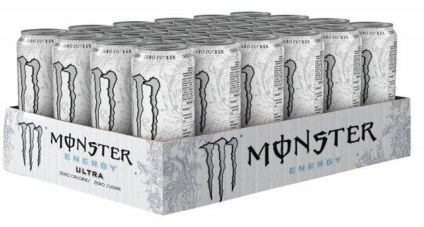 (Amazon) Monster Ultra White, 24er Pack, Einweg (24 x 500 ml) für 23,84€