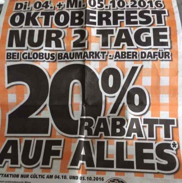 (71384)Oktoberfest 20% auf alles bei Globus