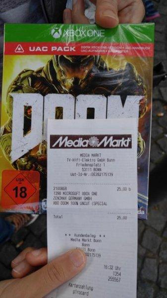 [Lokal Bonn Media Markt] Doom uac edition xb1, ps4 25€ nur heute!