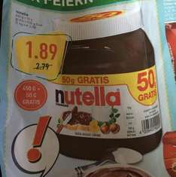 500gr Nutella für 1,89 im Marktkauf (verm.lokal)