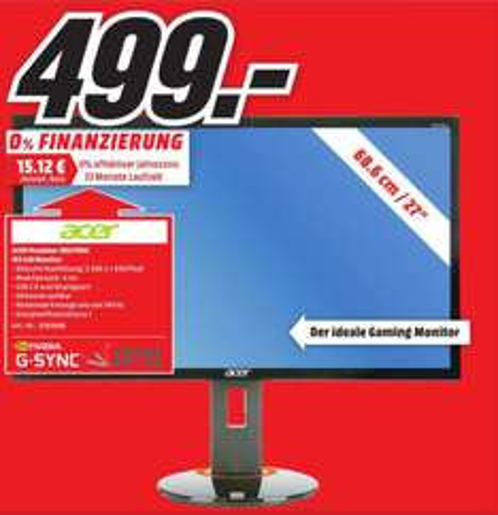 [lokal MM Hameln] Acer Predator XB270HU (G-Sync, WQHD, IPS, 144HZ, 4ms)