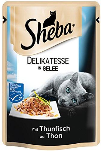 Sheba Delicato Katzenfutter Thunfisch in saftigem Gelee, 36er Pack (36 x 85 g) für 11,52€ @Amazon.de [0,32€/Packung]