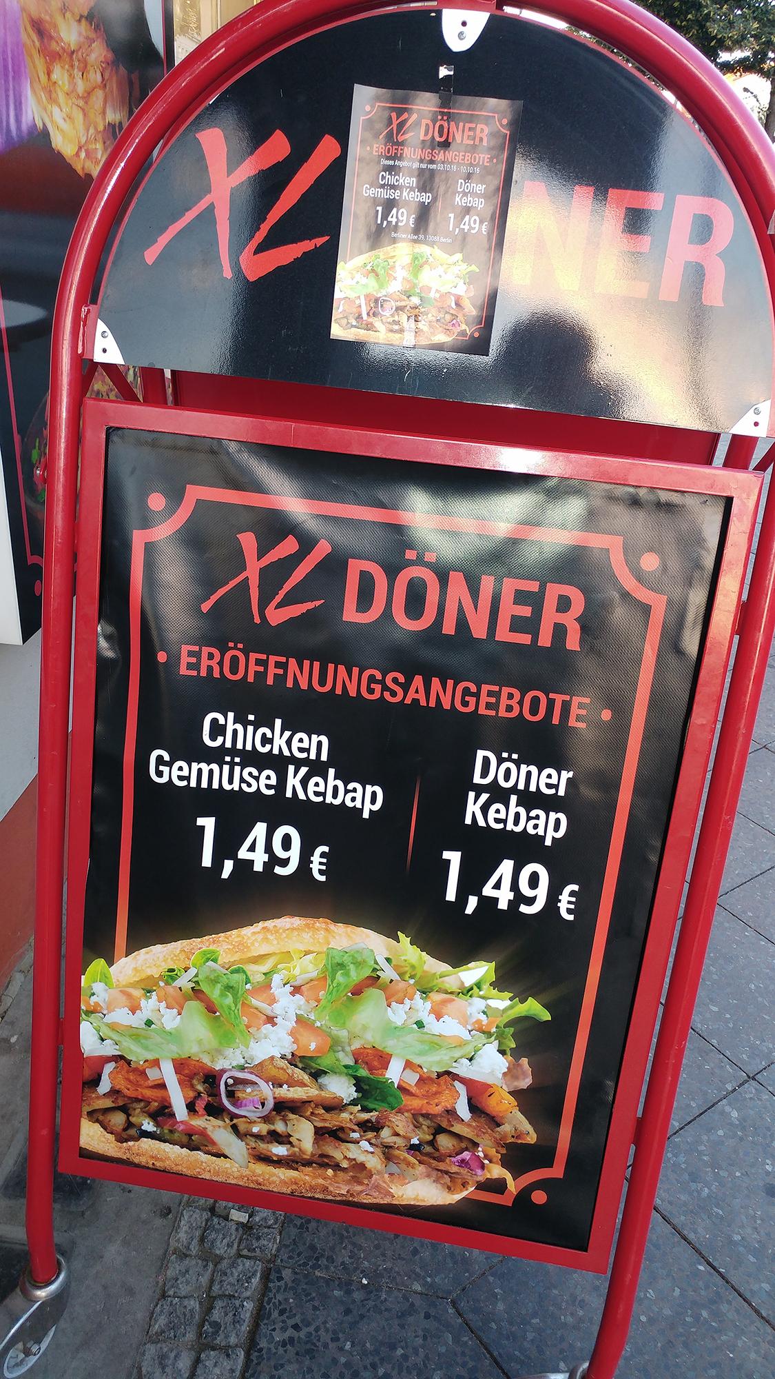 [Lokal Berlin] Döner am Antonplatz für 1,49 EUR