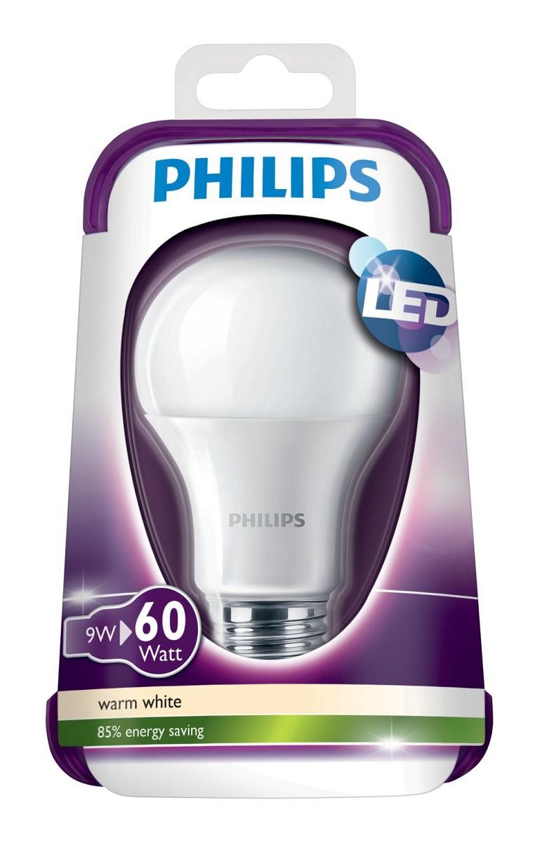 8er Pack Philips LED-Lampe (9 Watt ersetzt 60 Watt, E27) für 23,99€