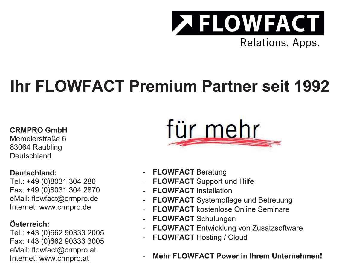 CRMPro Flowfact Gratis Mauspad VSK Frei
