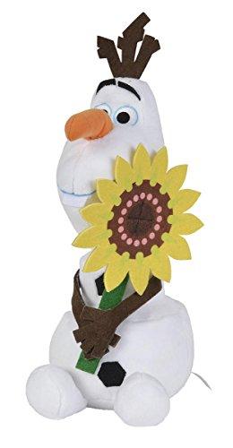 Disney Frozen Plüsch Olaf mit Sonnenblume 25 cm von Eiskönigin [Amazon Plus Produkt]