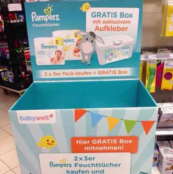 Rossmann - Wulfen - Feuchttücher-Box gratis beim Kauf von 2 3er-Packs Pampers-Feuchttücher