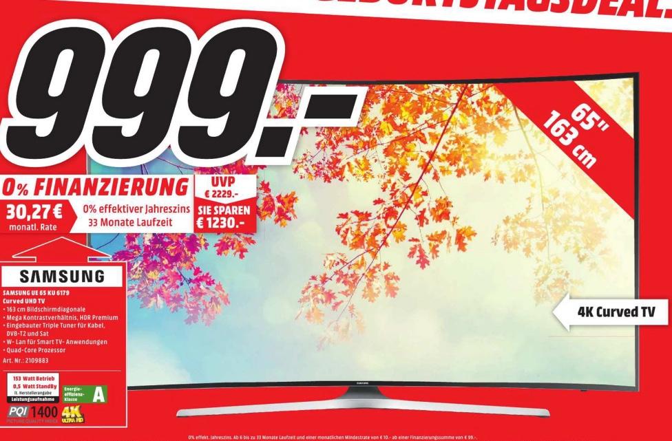 Samsung UE65KU6179 UHD Curved 4K [LOKAL MM Wolfsburg / Gifhorn]