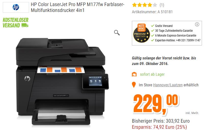 HP Laserjet M177fw 4in1 Multifunktions Laser Drucker, kostenloser Versand