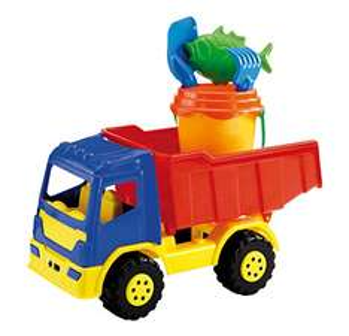 [Amazon plus Produkt] Sandspielzeug mit LKW, Eimer, Schaufel, Sieb etc für  5,10 PVG 13,24 €