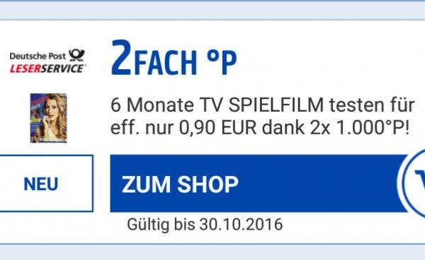 [Payback/Leserservice] TV Spielfilm & TV Movie Halbjahresabo für eff. 0,80€ (eCoupon checken)