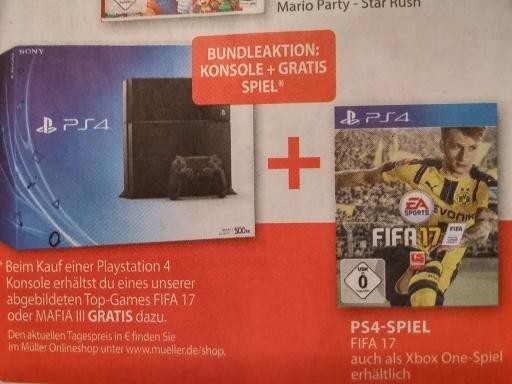 Playstation 4 slim + FIFA 17 oder Mafia III