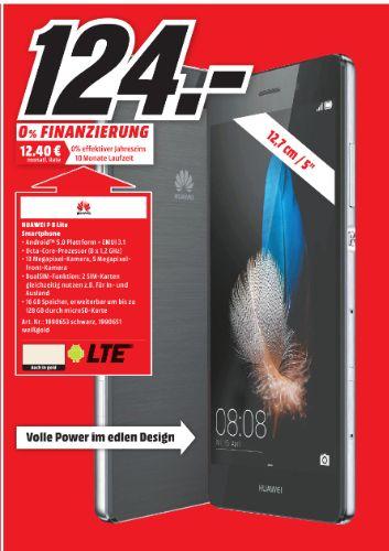 [Lokal Mediamarkt Halberstadt] Huawei Ascend P8 Lite Dualsim schwarz oder weiß/gold für je 124,-€