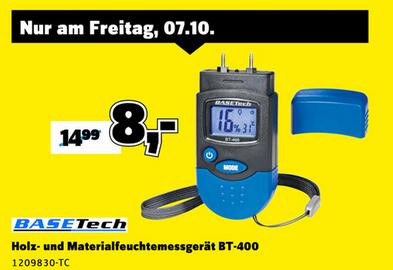 "[Conrad] Basetech ""BT-400"" Materialfeuchtemessgerät für 8€ *nur am 07.10.*"