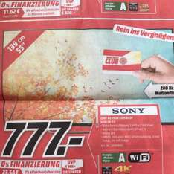 [lokal Bad Kreuzbach MediaMarkt] Sony KD55XD7005 4K TV
