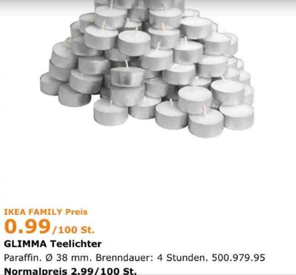 [Lokal Berlin] 100 Glimma Teelichter für 0,99€ statt 2,99€ (Ikea Family)