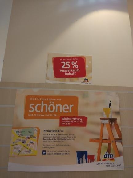 Europa Center  Berlin,  DM Drogerie markt 25% auf alles