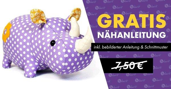edit: Abgelaufen! GRATIS statt 7,50 € / Schnittmuster / Nashorn