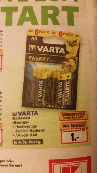 Kaufland Varta Energy AA oder AAA 6er Pack