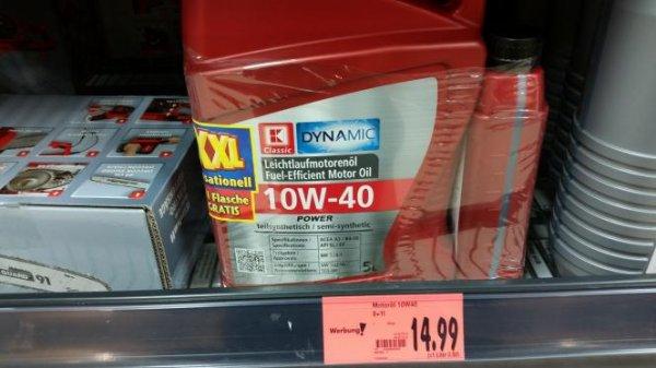 (Lokal Kaufland Delmenhorst) 6 Liter 10w40 Teilsynthetisches Motorenöl mir 14,99€